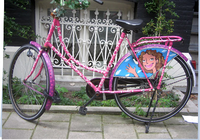 Decorated bicycle in Amsterdam