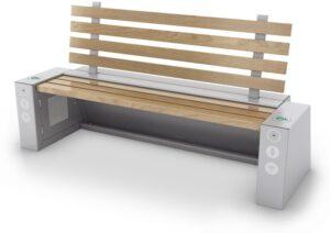 Przykładowa ławka solarna