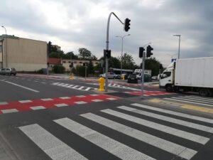 Zmodernizowane skrzyżowanie ulic Dąbka - Kwiatkowskiego