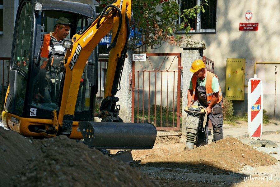 Prace budowlane na ulicy Godebskiego