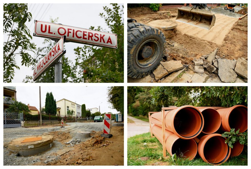Prace remontowe na ulicy Oficerskiej