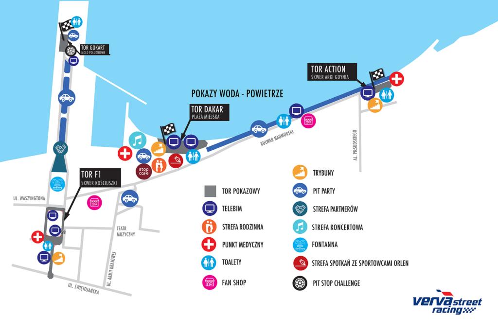 Plan sytuacyjny Verva street racing