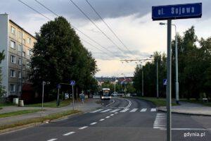 Obecne przejście dla pieszych przy ul. Sojowej