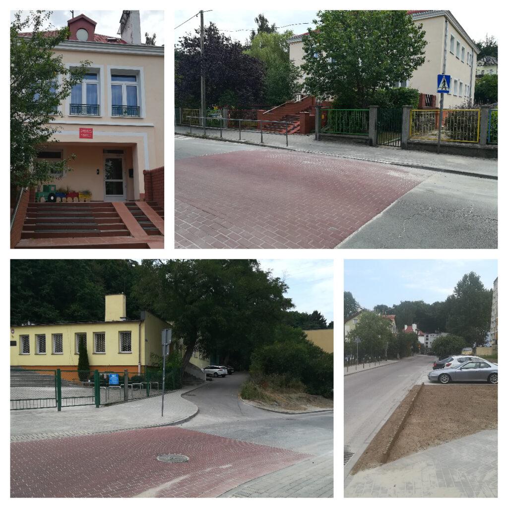 wyniesione przejścia dla pieszych przy ul. Kapitańskiej i Grabowo