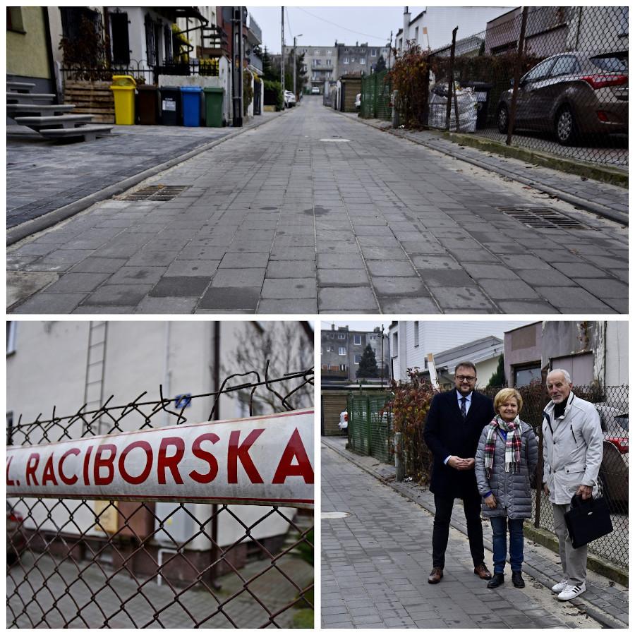 Na zdjęciu mieszkanka Raciborskiej, wiceprezydent Łucyk oraz przewodniczący Rady Dzielnicy Orłowo- Henryk Wiszniowski