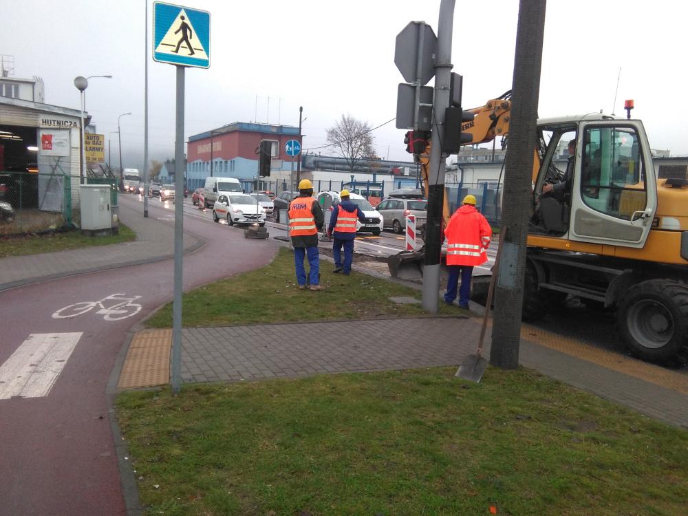 Ulica Hutnicza remont