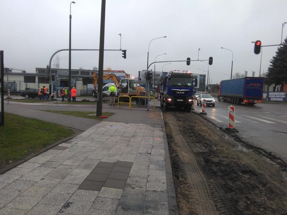 skrzyżowanie Pucka- Hutnicza remont