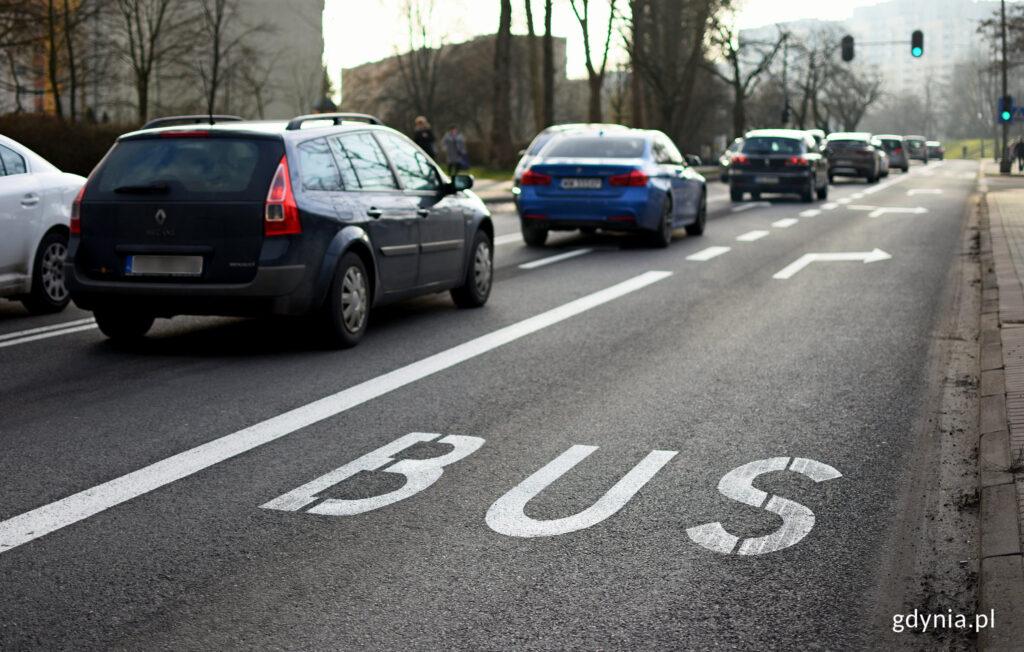 Buspas na ulicy Rolniczej/ fot. gdynia.pl