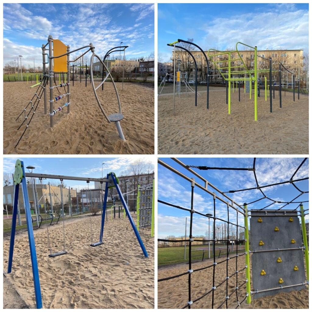 Nowe wyposażenie placu zabaw przy ul. Okrzei