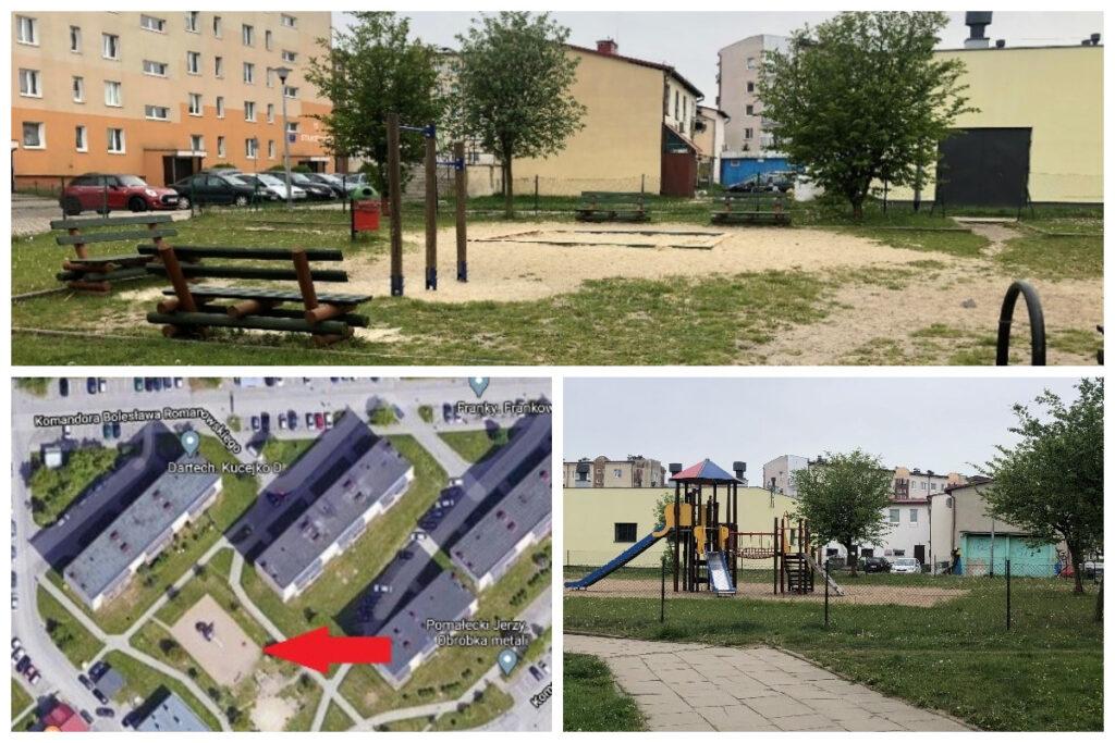 Tak obecnie wygląda przestrzeń placu zabaw przy ul.Romanowskiego // fot. ZDiZ
