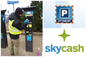 Dezynfekcja parkomatów i aplikacje do płatności za postój