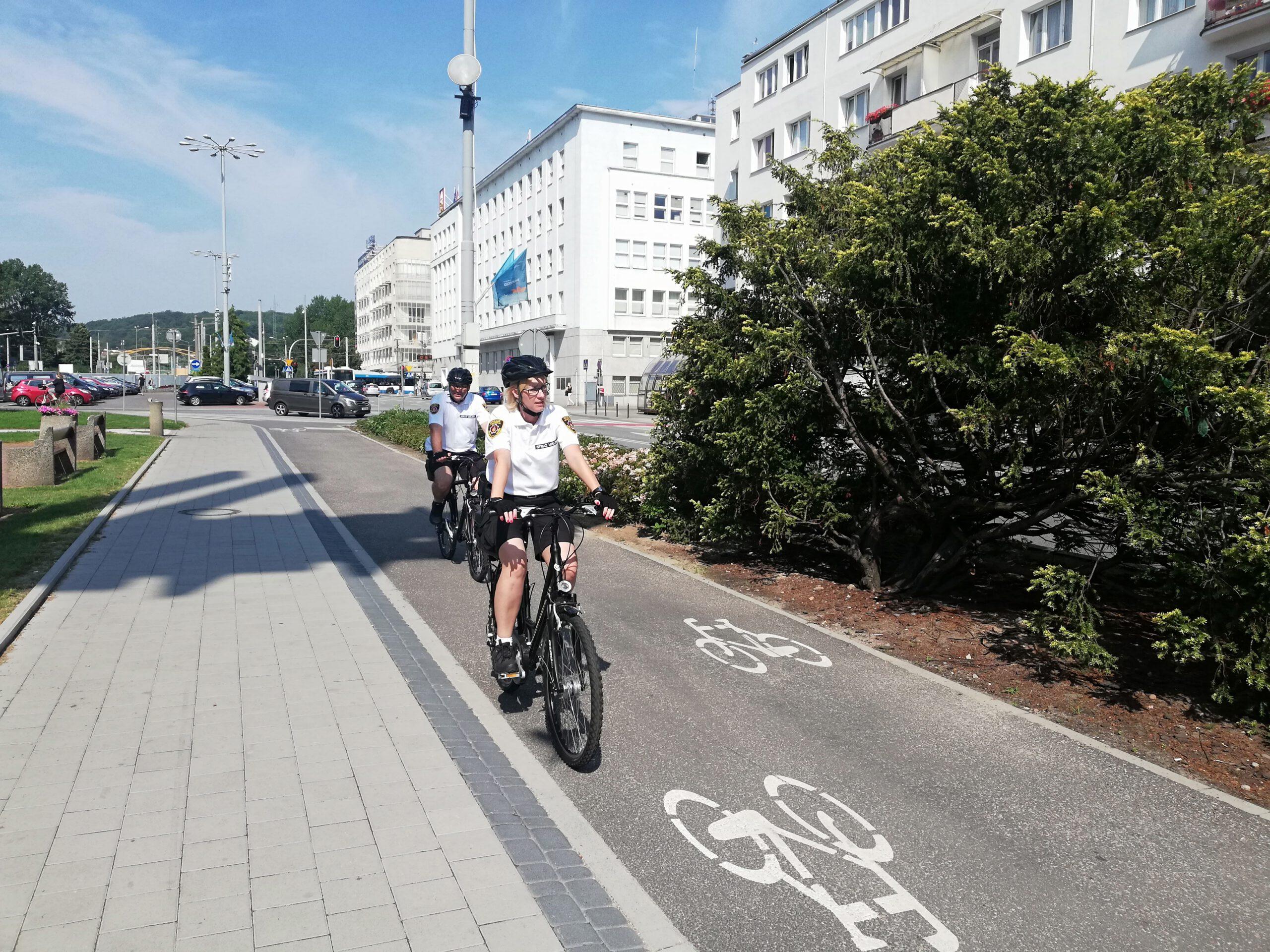 Rowerowy patrol w Gdyni // fot. Straż Miejska w Gdyni