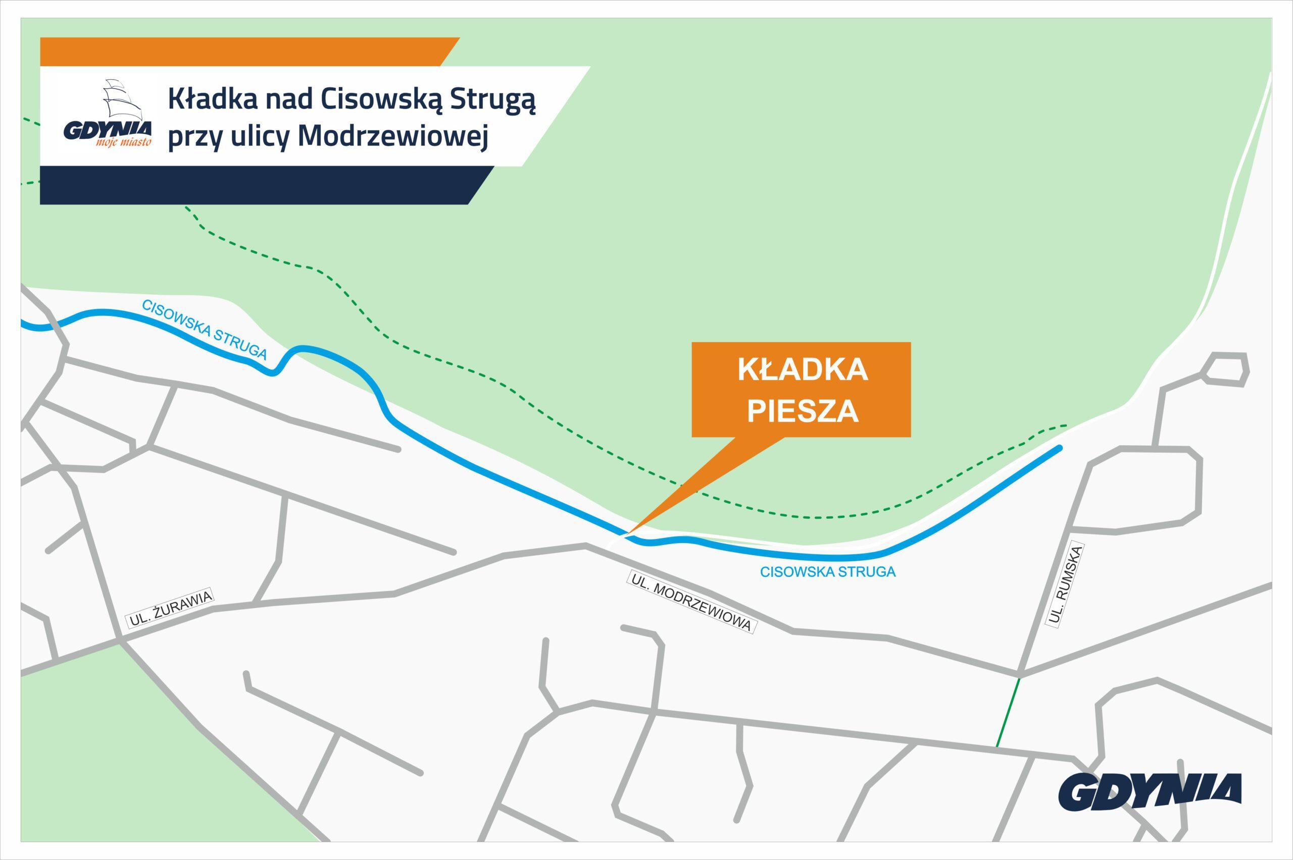 Kładka piesza nad Strugą Cisowską // mat. pras. #dzielnicewGdyni