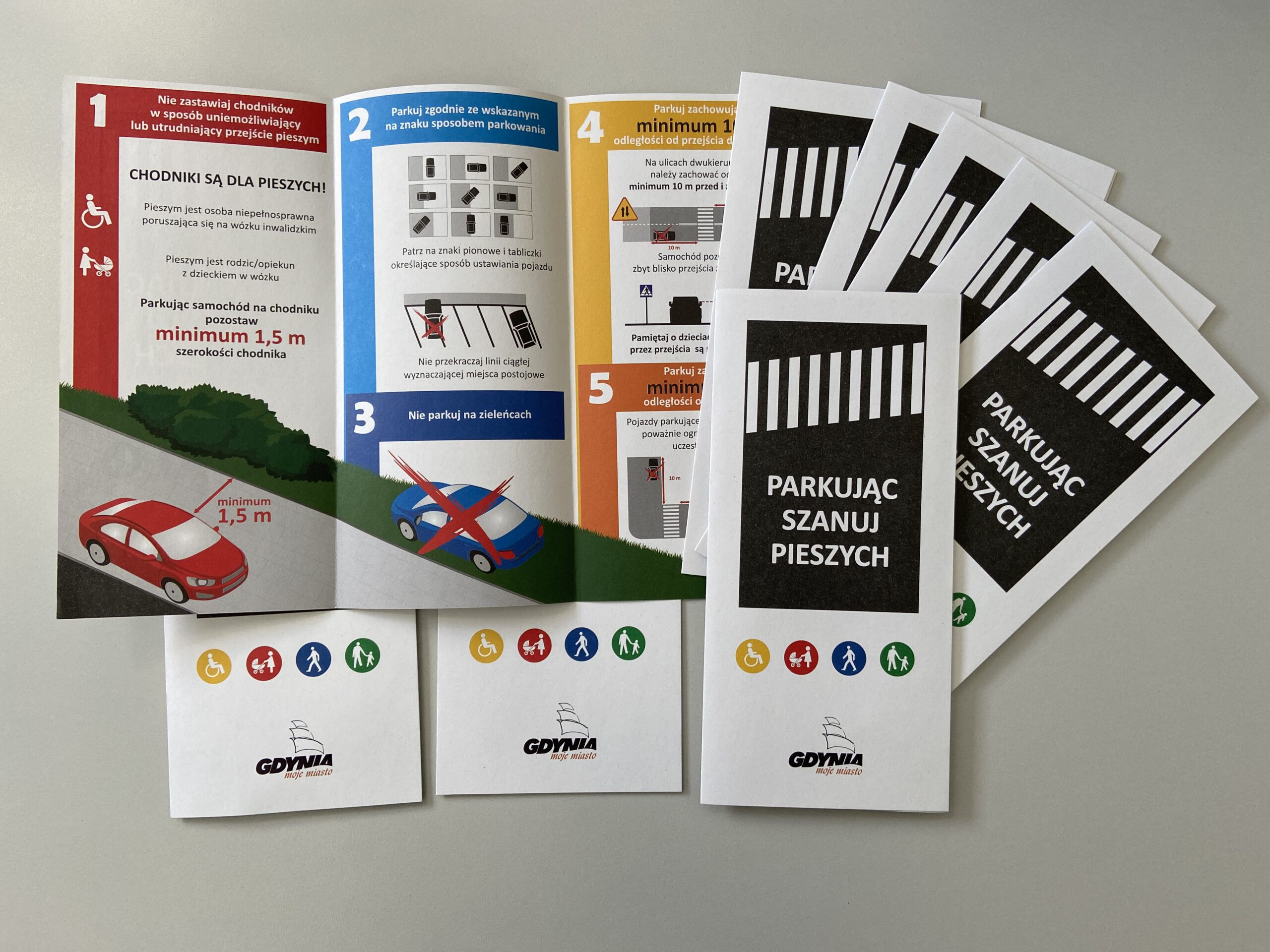 Ulotka o zasadach prawidłowego parkowania // fot. ZDiZ