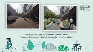 Ulica 3 Maja_ widok obecny i wizualizacja zmian_mat.pras. #dzielnicewGdyni