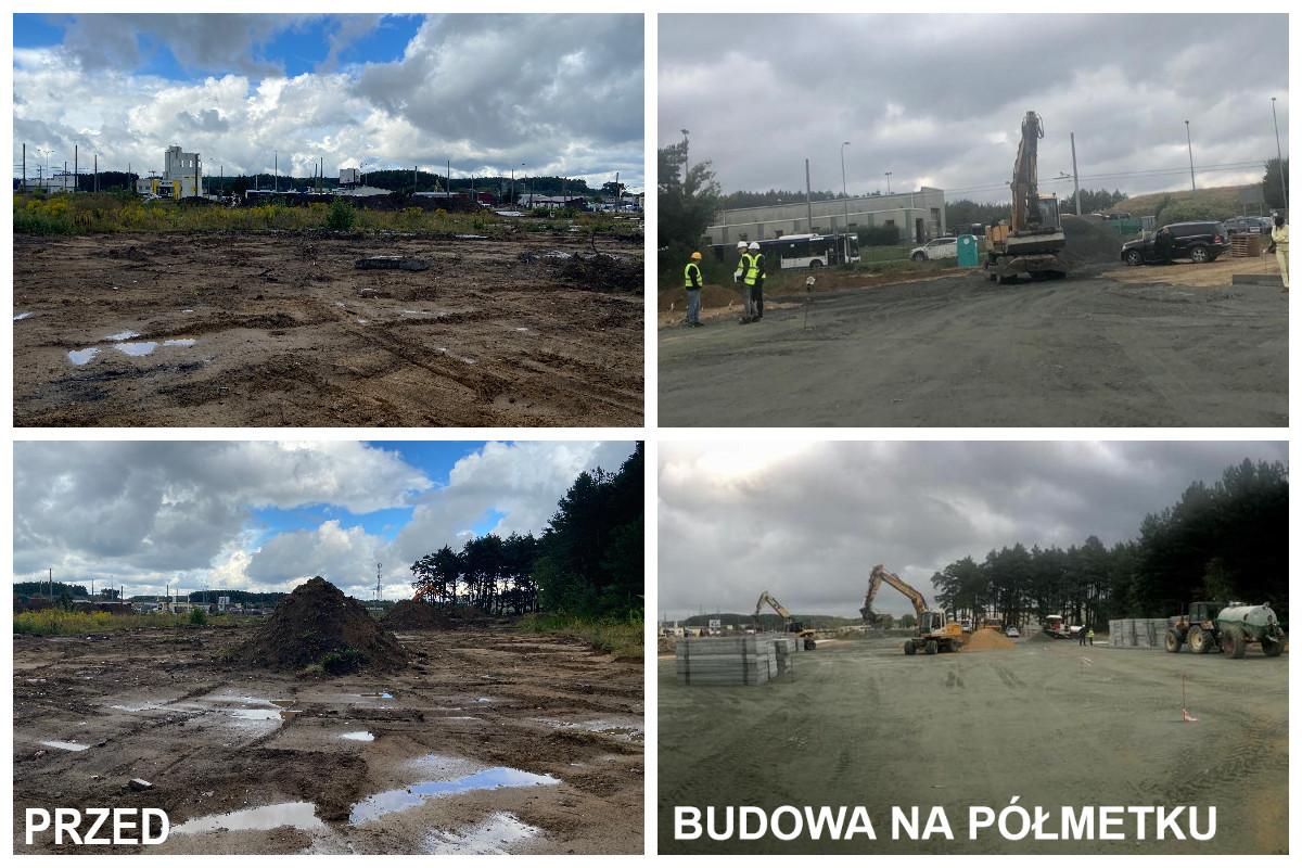 Teren budowy bazy technicznzej LIZUD przzy ul. Starochwaszczyńskiej // fot. ZDiZ