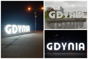 """Przestrzenne litery napisu """"Gdynia"""" na molo południowym// fot. ZDiZ"""
