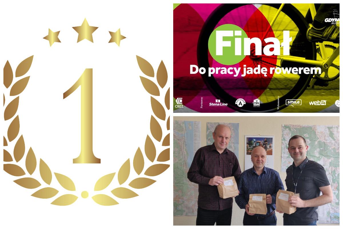 Laur zwycięźcy, pracownicy ZDiZ, plakat konkursu // fot. ZDiZ, pixabay