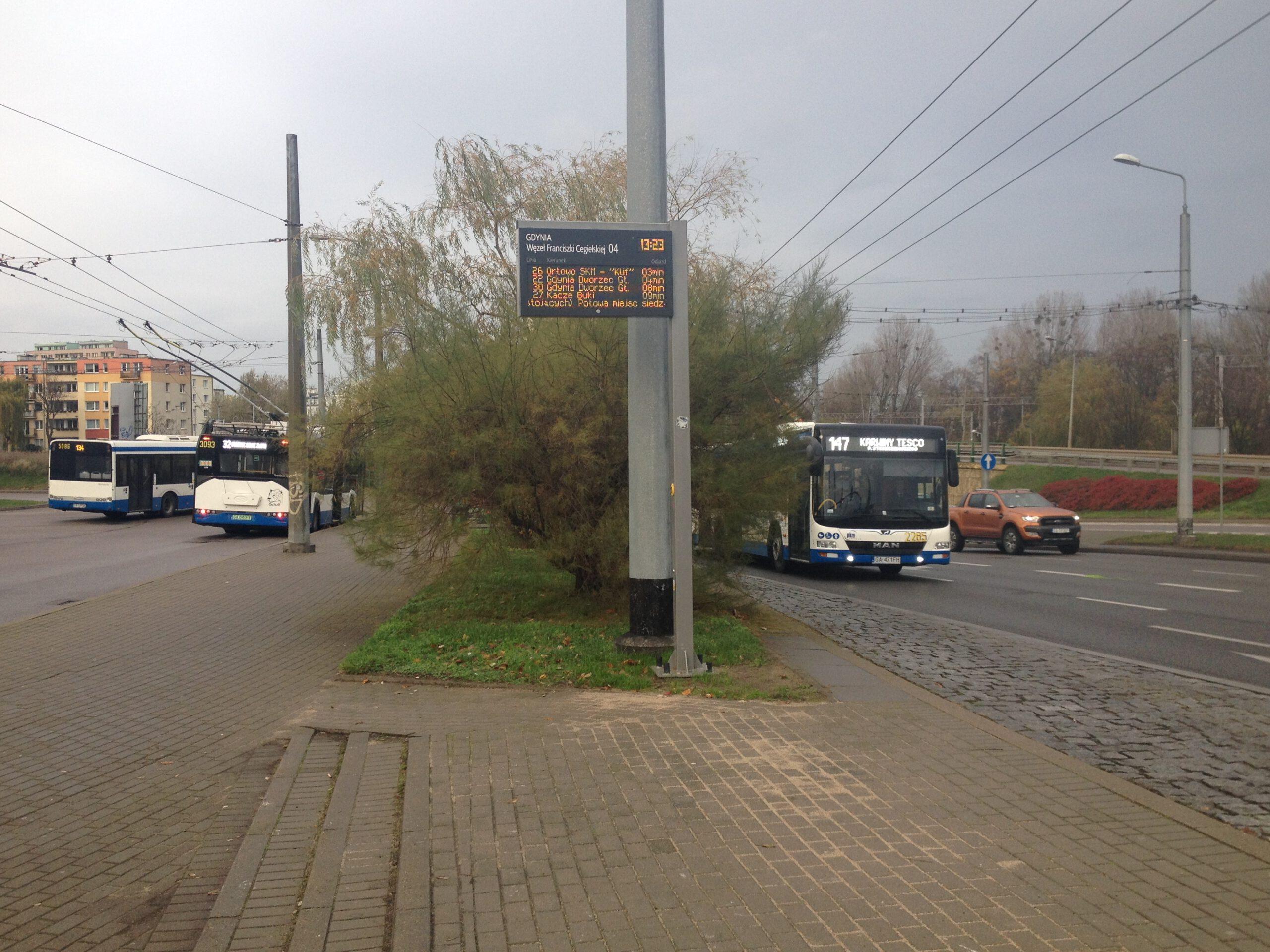 Tablica informacji pasażerskiej // fot. ZDiZ