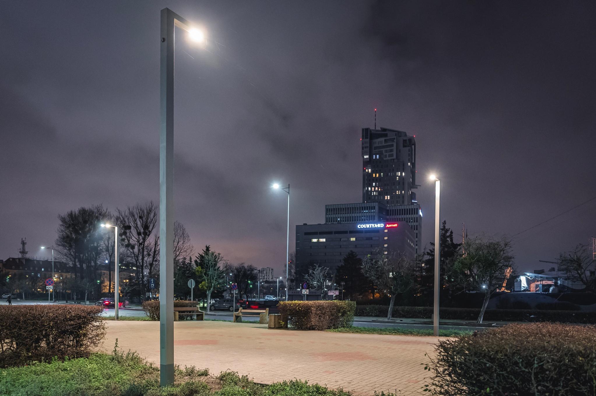 latarnie na skwerez Kościuszki // fot. #dzielnicewGdyni