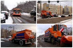 Pługo-posypywarki na gdyńskich drogach // fot.gdynia.pl