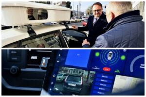 Wnętrze pojazdu do e-kontroli, na zdj. górnym wiceprezydent Marek Łucyk // fot. gdynia.pl