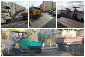 kolaż zdj. pokazujący sprzęt remontujący drogi // fot. ZDiZ