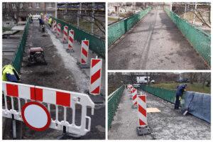 Remont kładki pieszej nad ul. Podjazd // fot. ZDiZ