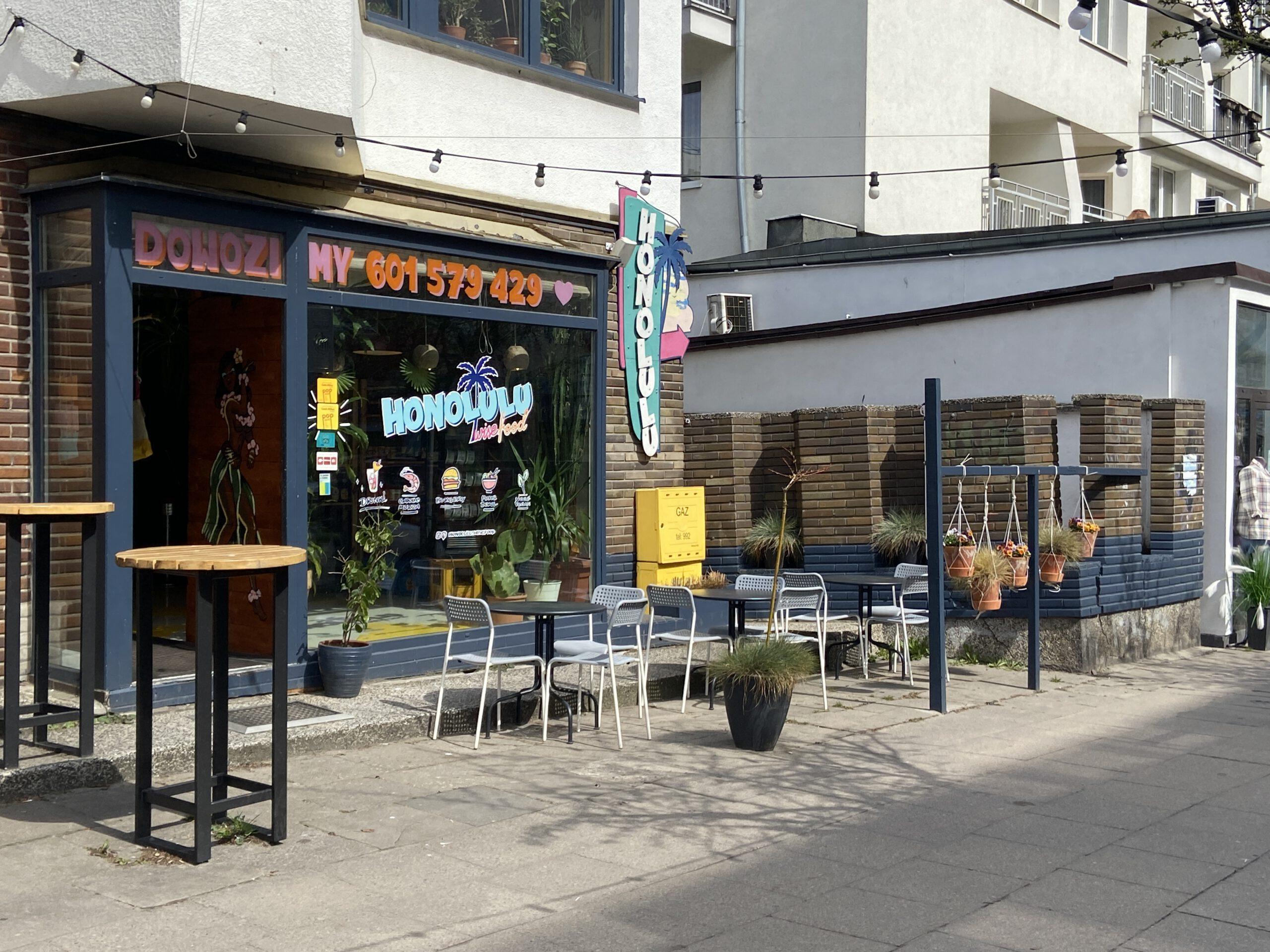 Ogródek gastronomiczny przy ul. Starowiejskiej