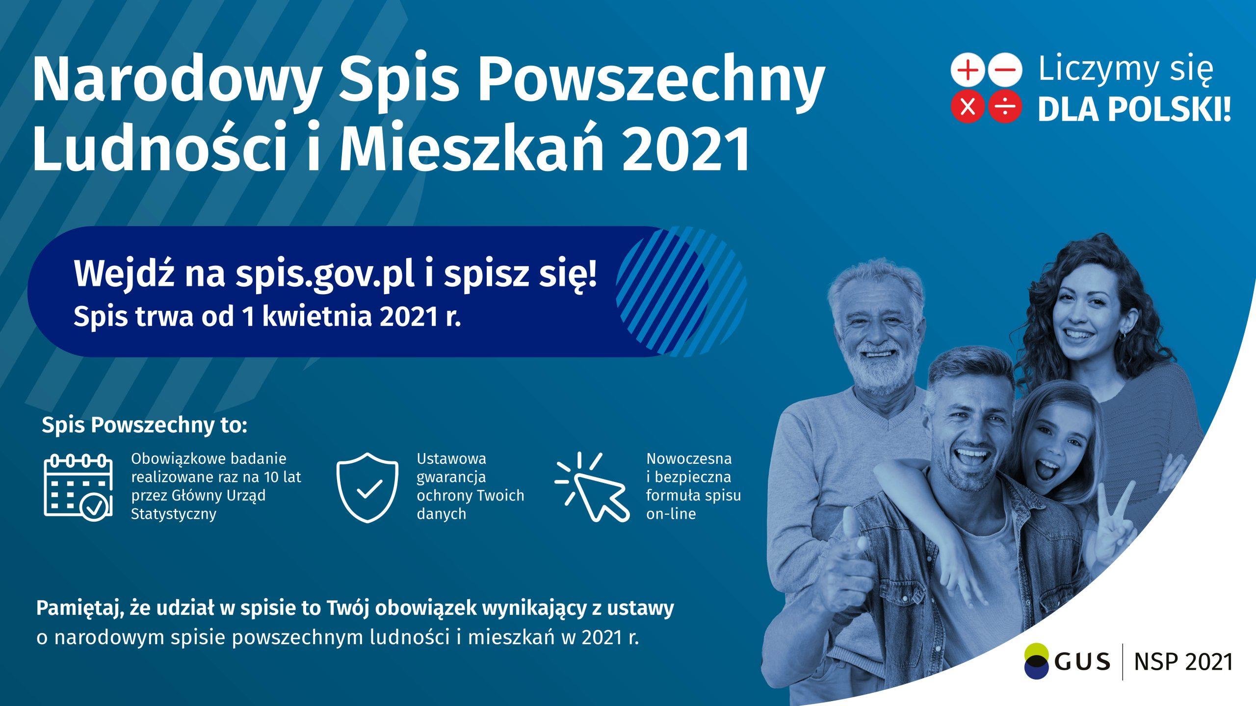 plakat Narodowy spis powszechny_2021