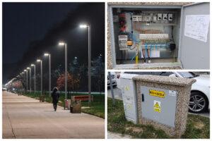 Latarnie na bulwarze oraz skrzynka zasilająca oświetlenie // fot. T.Kamiński, ZDiZ