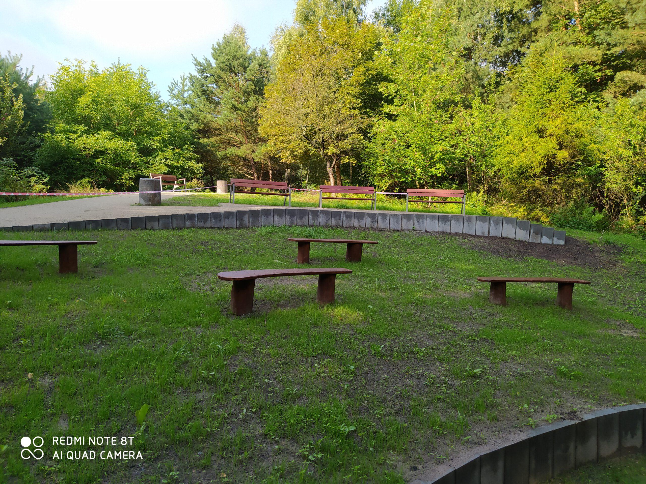 Lesny amfiteatr w parku przy ul. Spokojnej // fot.ZDiZ